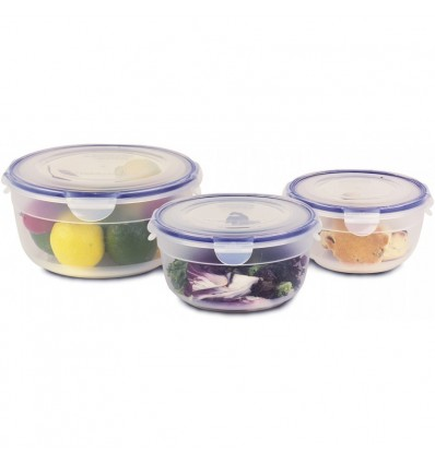 Lock&Lock Nestable Bowls x3