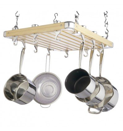 Wooden Pot Rack by MasterClass
