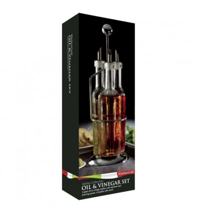 Kitchen Craft Glass Oil and Vinegar Set of Three