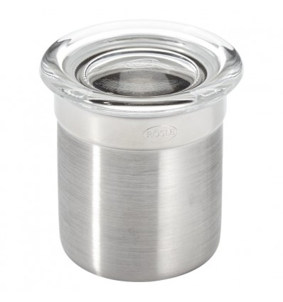 Rösle Stainless Jar with Clear Glass Lid 2 Inch