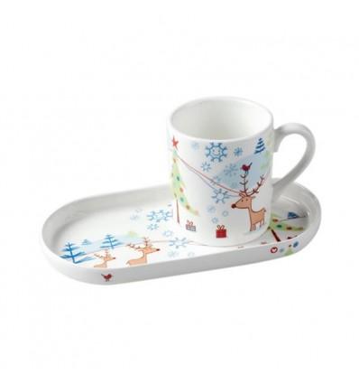 Santa's Cookies Reindeer Mug Set